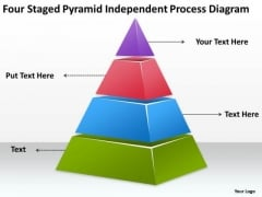 Four Staged Pyramid Independent Process Diagram Ppt Insurance Business Plan PowerPoint Templates