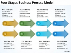 Four Stages Business Process Model Creating Plan PowerPoint Templates