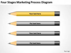 Four Stages Marketing Process Diagram Ppt Business Plan PowerPoint Slides