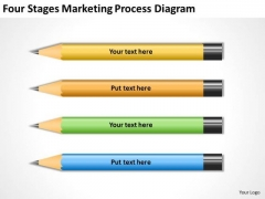 Four Stages Marketing Process Diagram Ppt Business Plan PowerPoint Templates