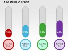 Four Stages Of Growth PowerPoint Template