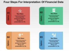 Four Steps For Interpretation Of Financial Data PowerPoint Templates