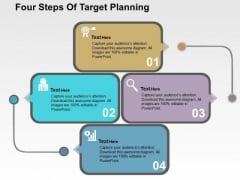 Four Steps Of Target Planning PowerPoint Template
