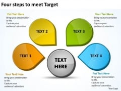 Four Steps To Meet Targets PowerPoint Slides Presentation Diagrams Templates