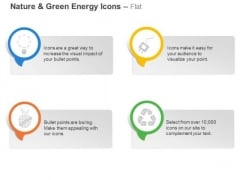 Four Symbols For Green Energy Generation Ppt Slides Graphics