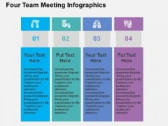 Four Team Meeting Infographic PowerPoint Templates