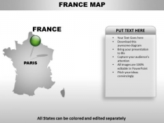 France Country PowerPoint Maps