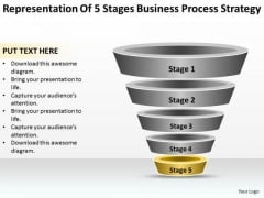 Free Business Charts Of 5 Stages Process Strategy Ppt PowerPoint Templates