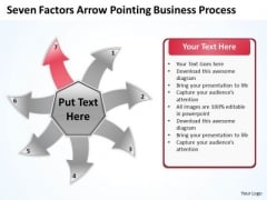 Free Business PowerPoint Template Process Circular Flow Layout Chart