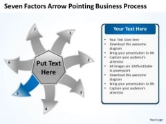 Free Business PowerPoint Templates Process Circular Flow Layout Chart