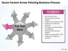 Free Business PowerPoint Templates Process Cycle Circular Flow Layout Chart