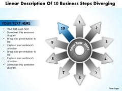 Free Business PowerPoint Templates Steps Diverging Arrows Chart Software Slides