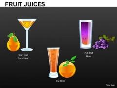 Fruit Juice Cocktail Editable PowerPoint Ppt Slides