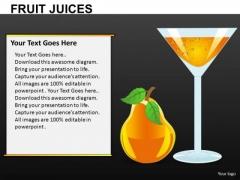 Fruit Juices Editable PowerPoint Slides Download
