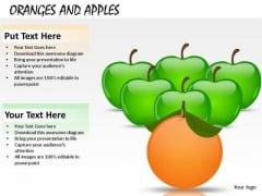 Fruit Orange Leading Apples PowerPoint Slides And Ppt Templates