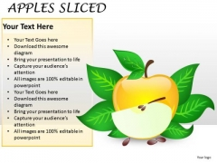 Fruits Apples Sliced PowerPoint Slides And Ppt Diagram Templates