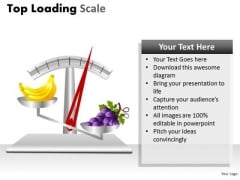 Fruits Weighing Scale PowerPoint Slides And Ppt Diagram Templates