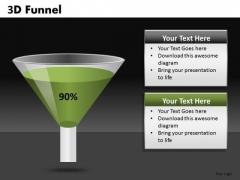 Funnel PowerPoint Diagram Showing Percent Conversion Ppt Slides