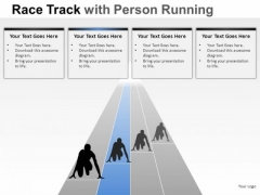 Future Race Person Running PowerPoint Slides And Ppt Diagram Templates