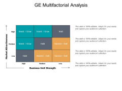 GE Multifactorial Analysis Ppt PowerPoint Presentation Inspiration Deck