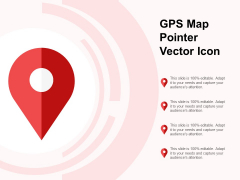 GPS Map Pointer Vector Icon Ppt PowerPoint Presentation Layouts Portrait