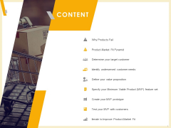 Gaining Product Market Solution Fit Content Ppt PowerPoint Presentation Summary Deck PDF