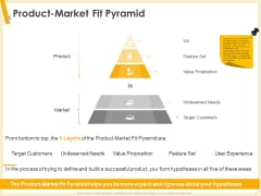 Gaining Product Market Solution Fit Product Market Fit Pyramid Ppt PowerPoint Presentation Slides Elements PDF