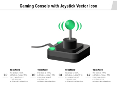 Gaming Console With Joystick Vector Icon Ppt PowerPoint Presentation Gallery Outline PDF