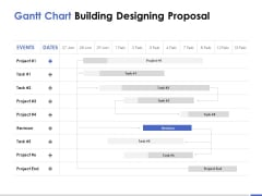 Gantt Chart Building Designing Proposal Ppt PowerPoint Presentation Pictures Design Templates