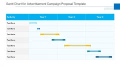 Gantt Chart For Advertisement Campaign Proposal Template Summary PDF