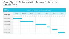 Gantt Chart For Digital Marketing Proposal For Increasing Website Traffic Summary PDF