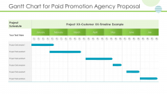 Gantt Chart For Paid Promotion Agency Proposal Pictures PDF