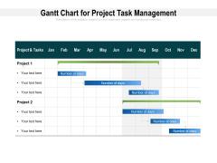 Gantt Chart For Project Task Management Ppt PowerPoint Presentation Outline Smartart