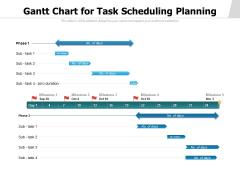 Gantt Chart For Task Scheduling Planning Ppt PowerPoint Presentation Model Vector