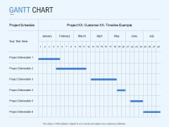Gantt Chart Project Deliverable Ppt PowerPoint Presentation Styles Topics