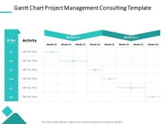 Gantt Chart Project Management Consulting Template Ppt PowerPoint Presentation Layouts Clipart Images PDF