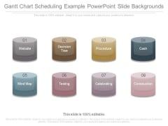 Gantt Chart Scheduling Example Powerpoint Slide Backgrounds