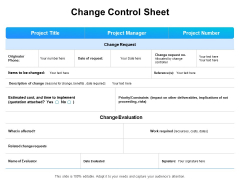 Gap Analysis Budgeting And Reporting Change Control Sheet Ppt PowerPoint Presentation Ideas Deck PDF
