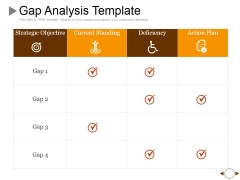 Gap Analysis Template 1 Ppt PowerPoint Presentation Gallery Topics