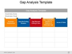 Gap Analysis Template 1 Ppt PowerPoint Presentation Portfolio Gridlines