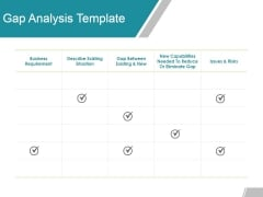 Gap Analysis Template 2 Ppt Powerpoint Presentation Pictures Introduction