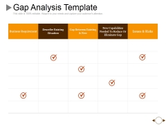 Gap Analysis Template 2 Ppt PowerPoint Presentation Summary Themes