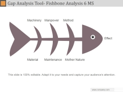 Gap Analysis Tool Fishbone Analysis 6 MS Ppt PowerPoint Presentation Inspiration