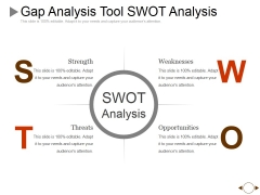 Gap Analysis Tool Swot Analysis Ppt PowerPoint Presentation Pictures Ideas