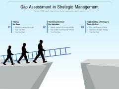 Gap Assessment In Strategic Management Ppt PowerPoint Presentation Infographic Template Slides PDF