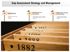 Gap Assessment Strategy And Management Ppt PowerPoint Presentation Gallery Graphic Tips PDF