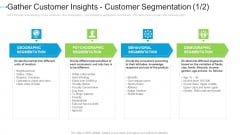 Gather Customer Insights Customer Segmentation Brand Internet Marketing Strategies To Grow Your Business Information PDF