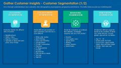Gather Customer Insights Customer Segmentation India Topics PDF