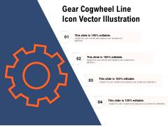 Gear Cogwheel Line Icon Vector Illustration Ppt PowerPoint Presentation File Graphics Design PDF