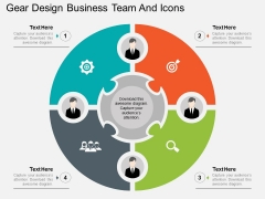 Gear Design Business Team And Icons Powerpoint Template